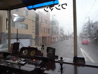阪堺線の車内から