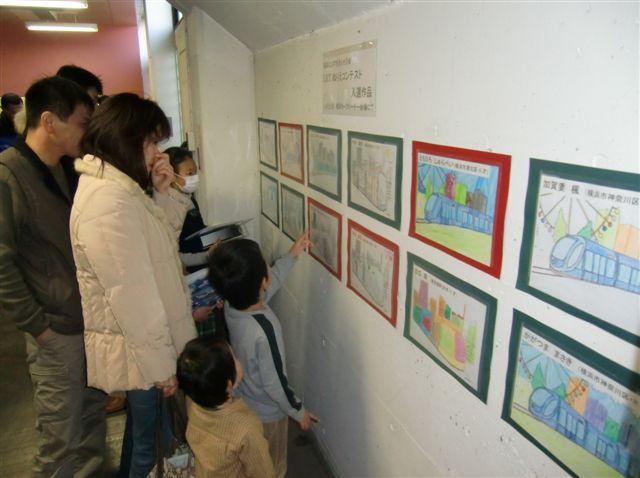 市電保存館での塗り絵展示