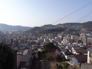 風頭公園付近から見た長崎市街